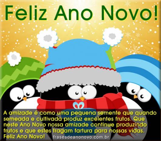Mensagens de Ano Novo para Amigos amor pelo amigo