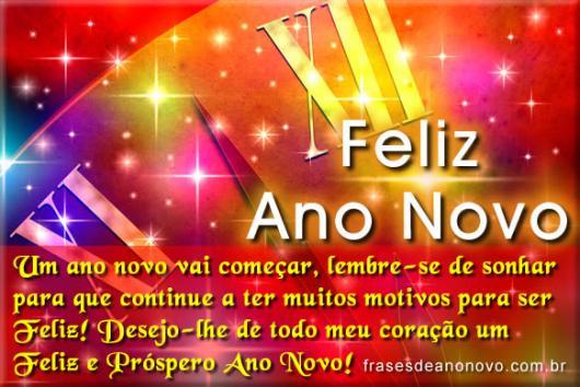 Mensagens de Ano Novo para Amigos prósperidade e amor
