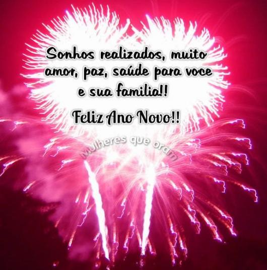 Mensagens de Ano Novo para Amigos desejo saúde para família