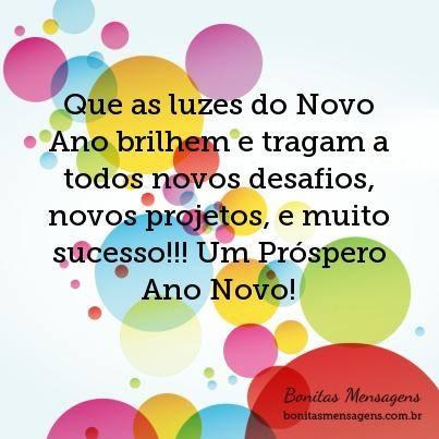 Mensagens de Ano Novo para Amigos para instagram desejando prosperidade