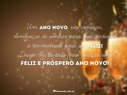Mensagens de Ano Novo para Amigos desejando felicidade e prosperidade