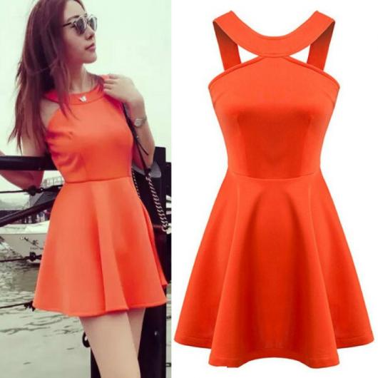 Presentes Criativos para Namorada vestido laranja curto