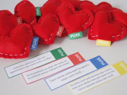 Presentes Criativos para Namorada coração com mensagens de amor