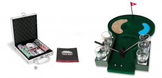 Presentes para Homens mini jogos poker e mini golf