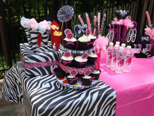 Temas para festa de 15 anos zebra