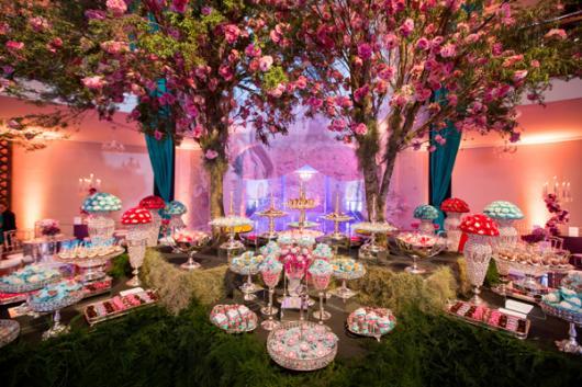 Temas para festa de 15 anos jardim flores rosa