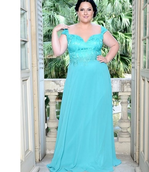 Vestidos de festa longo azul tiffany