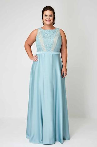 bdceaaa9f Vestido de Formatura Azul plus size longo. Para as gordinhas que querem um  ...