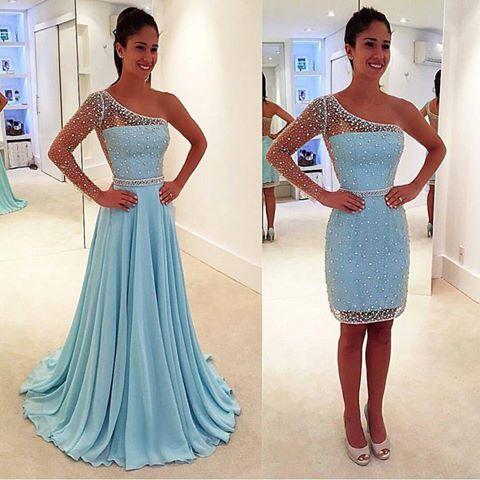 Combinar vestido azul celeste