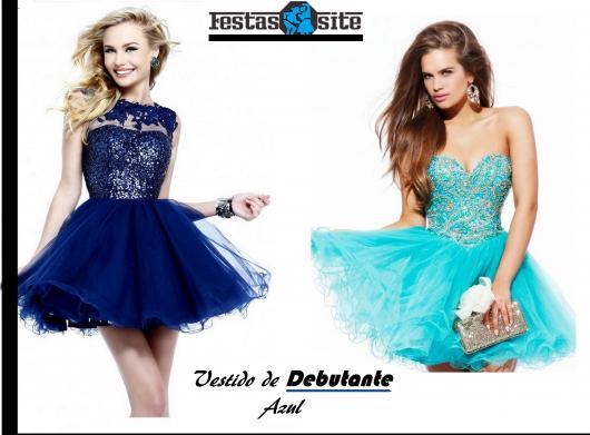 Vestido azul royal 2 em 1