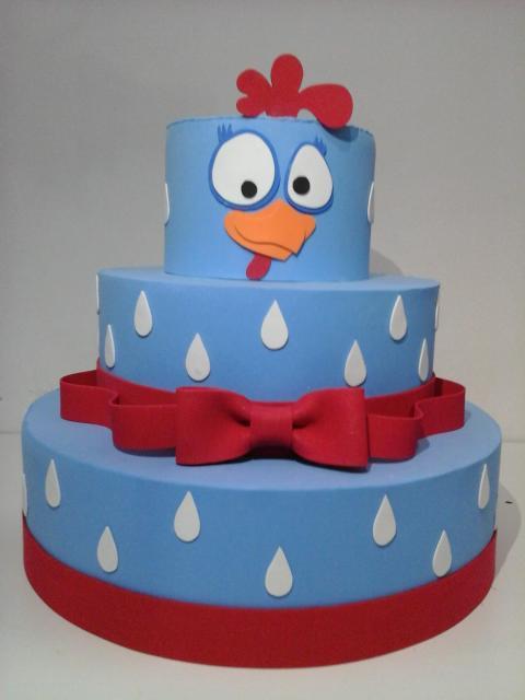 modelos de bolo fake galinha pintadinha azul