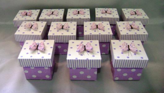 Caixinha para Lembrancinhas borboleta lilás