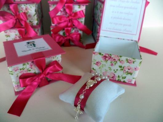 Caixinha para Lembrancinhas de casamento com estampa florida