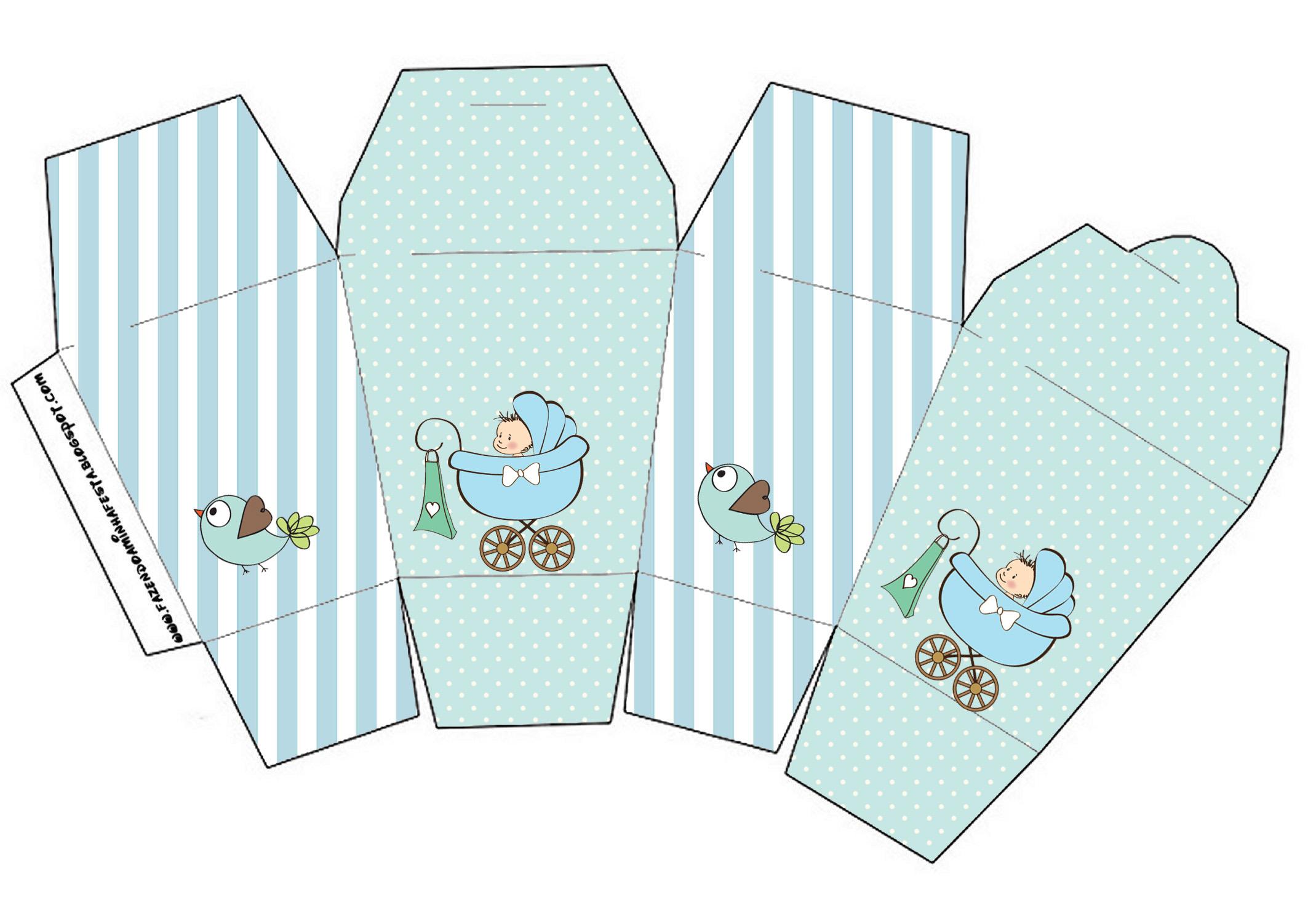 Caixinha para Lembrancinhas molde para imprimir chá de bebê