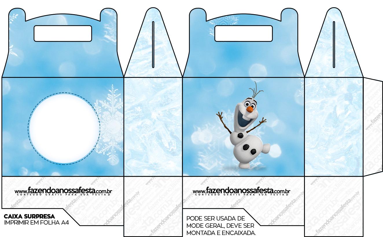 Caixinha para Lembrancinhas molde para imprimir Frozen