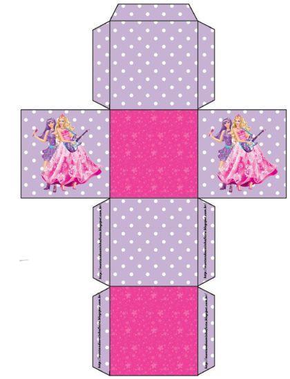 Caixinha para Lembrancinhas molde para imprimir Barbie