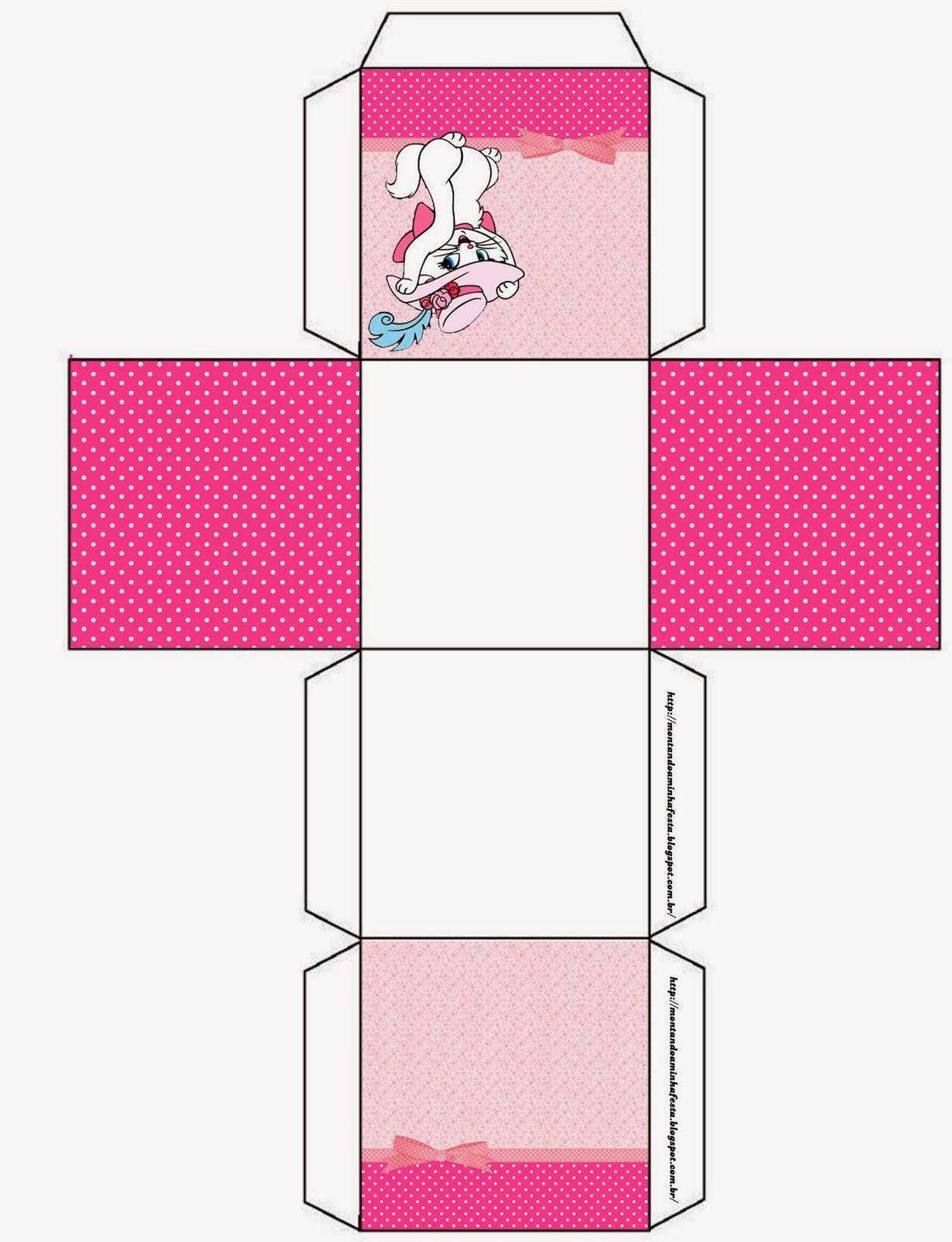 Caixinha para Lembrancinhas molde para imprimir Gata Marie