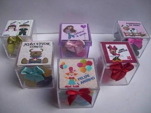 Caixinha para Lembrancinhas modelos de caixinha de acrílico para festa infantil e casamento