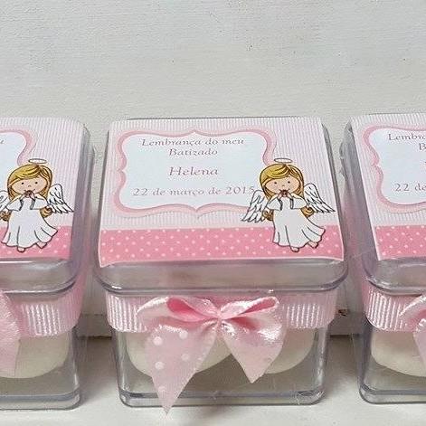 Caixinha para Lembrancinhas de batizado rosa
