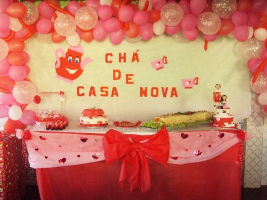Chá de Casa Nova decoração com balões