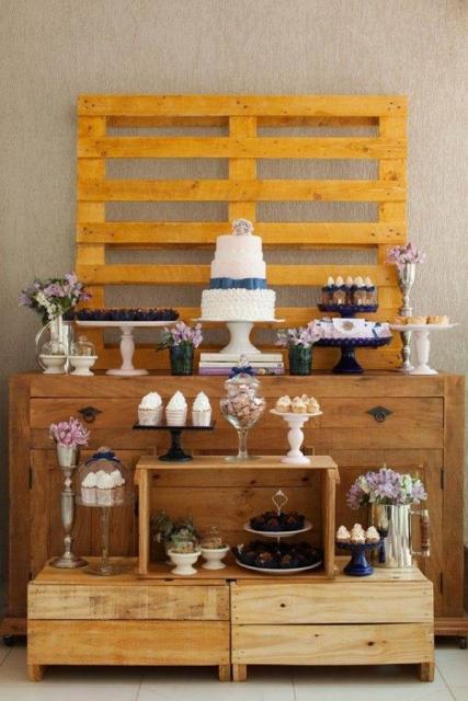 Chá de Casa Nova decoração com palets