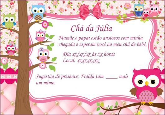 Convites De Chá De Bebê 60 Ideias Frases Modelos Para Imprimir