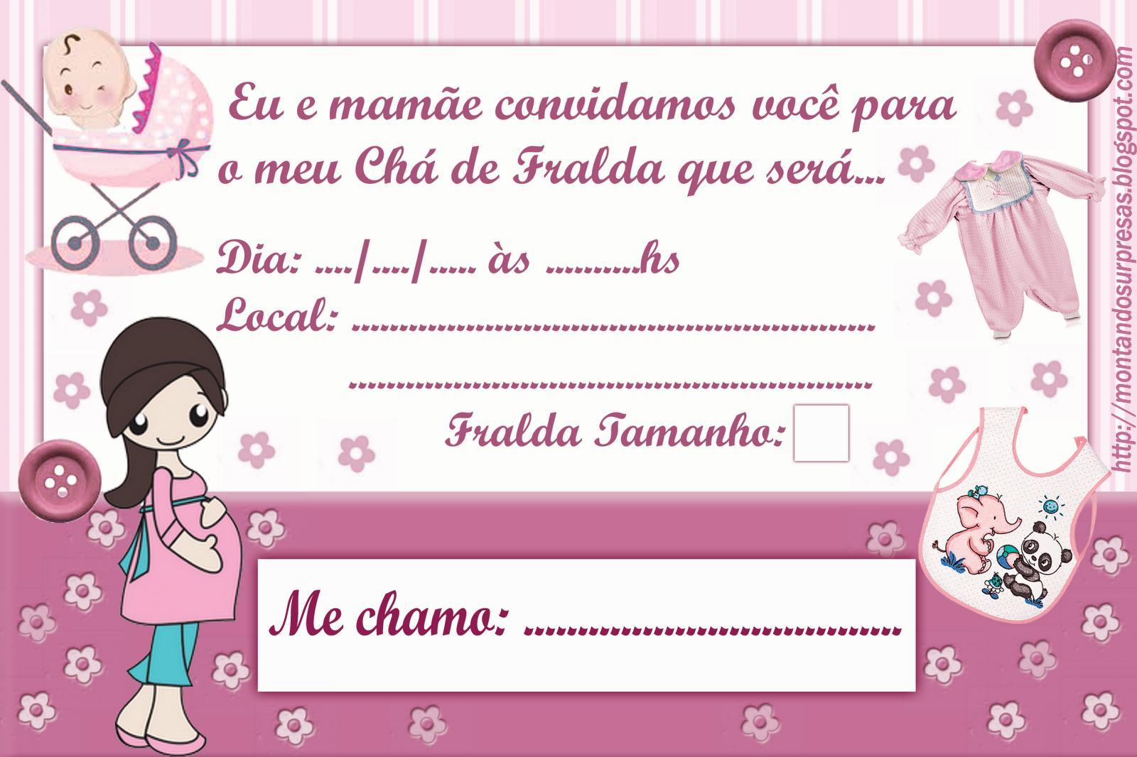 Convites De Cha De Bebe 60 Ideias Frases Modelos Para Imprimir