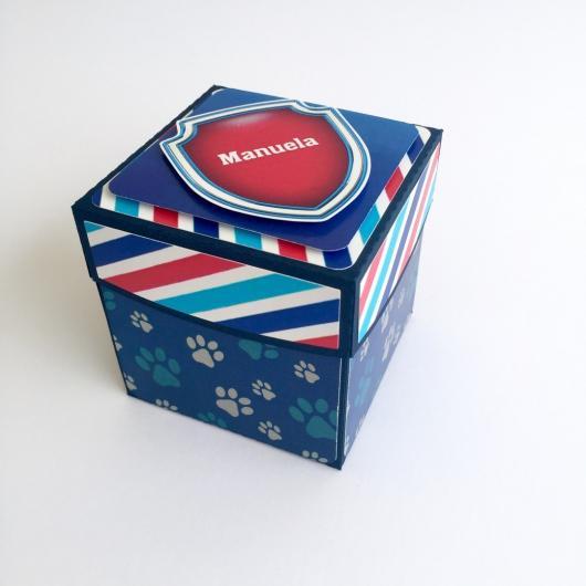 Convites Patrulha Canina caixa explosiva