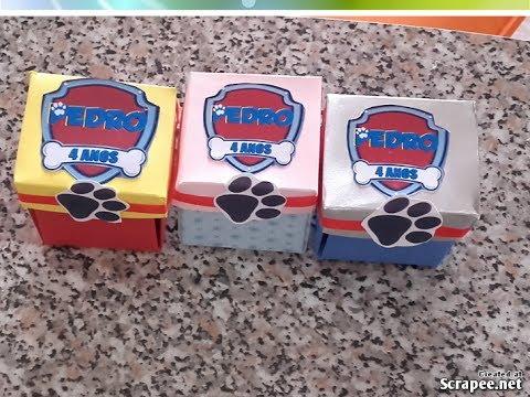 Convites Patrulha Canina caixa impressa