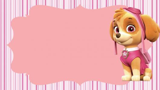 Convites Patrulha Canina rosa
