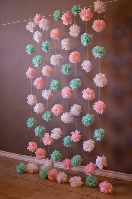 cortina de papel crepom  u2013 45 decora u00e7 u00f5es incr u00edveis  dicas
