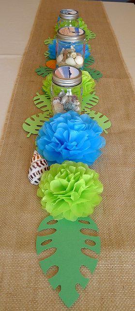 decoração mesa Moana