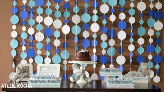 enfeite festa azul