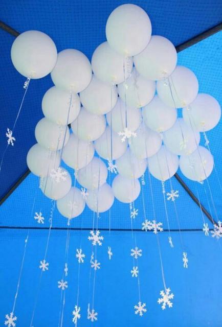 decoração com balões festa Frozen
