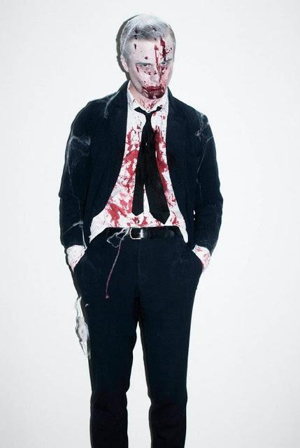 Fantasia de Vampiro masculino com sangue