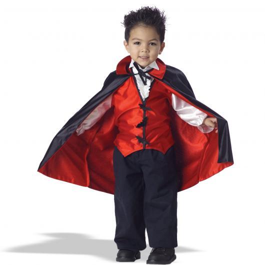 Fantasia de Vampiro masculina infantil preta vermelha e branca