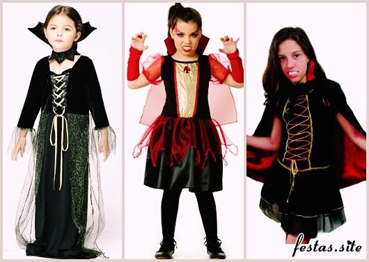 Fantasia de Vampiro infantil preta e dourada