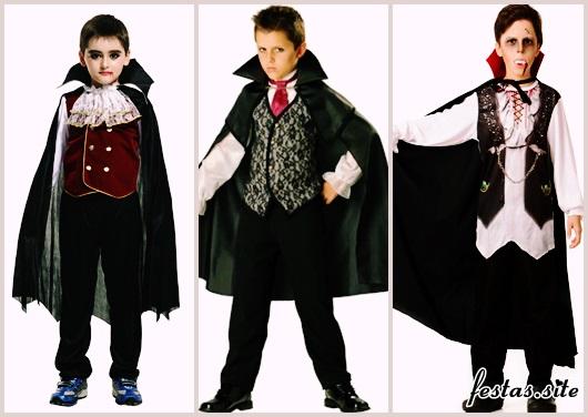 Fantasia de Vampiro masculina infantil