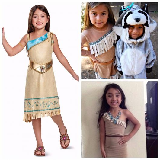 fantasia infantil de Pocahontas