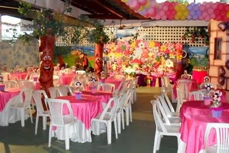 salão decorado para festa à fantasia infantil