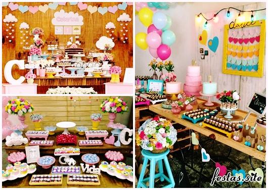 Festa Chuva de Amor modelos de decoração rústica