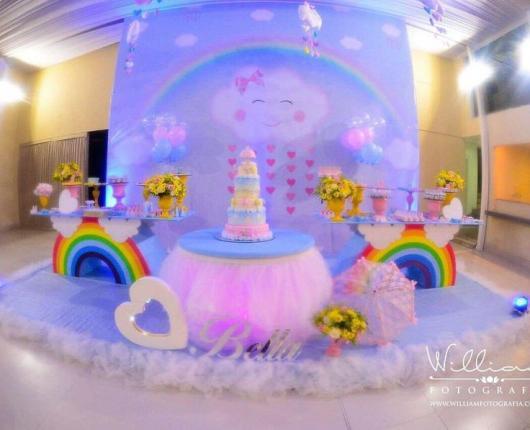 Festa Chuva de Amor decoração de luco