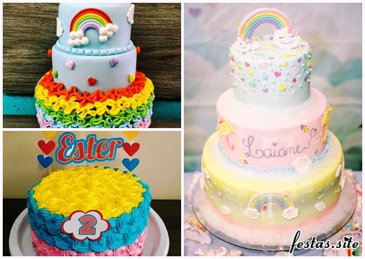 Festa Chuva de Amor modelos de bolo decorado com pasta americana