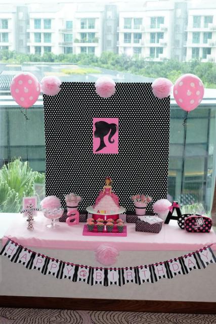 Festa da Barbie decoração simples