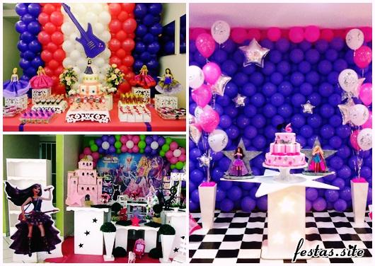 Festa da Barbie Pop Star modelos de decoração