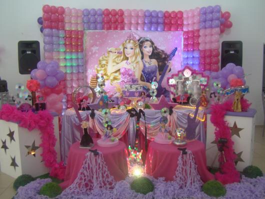 Festa da Barbie decoração co, painel personalizado