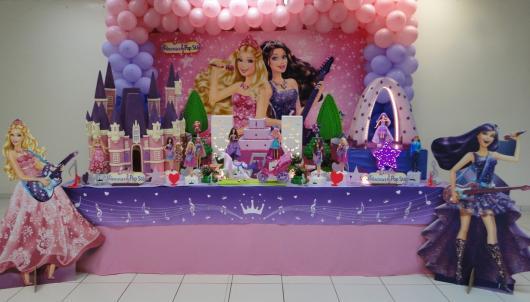 Festa da Barbie Pop star decoração com displays