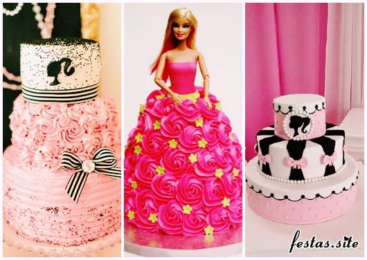 Festa da Barbie modelos de bolo