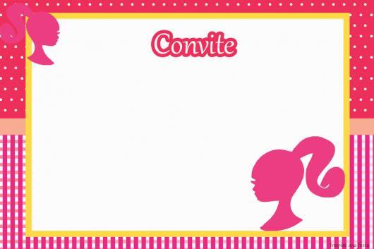 Festa da Barbie lembrancinha modelo de convite