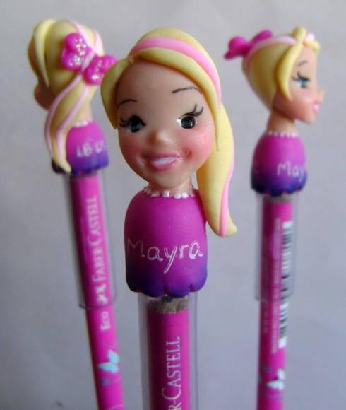 Festa da Barbie lembrancinha ponteira de lápis